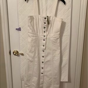 Denim white sun dress